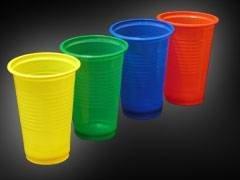 Стакан для холодного и горячего 200 мл., зелёный, ПП 100 шт/уп., 4000 шт./кор., Пласт Индустрия, пластиковый пакет