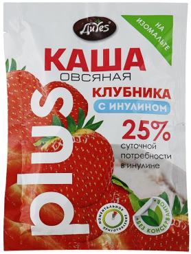 Каша овсяная plus Клубника с инулином на изомальте, DiYes, 43 гр., флоу пак