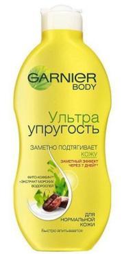 Молочко Garnier для тела Ультраупругость тонизирующее, увлажняющее, повышает упругость кожи
