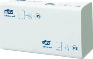 Полотенца бумажные листовые Tork Advanced H3 ZZ-сложения 2-слойные белые 200 листов