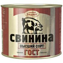 Мясные консервы Семейный Свинина тушеная высший сорт