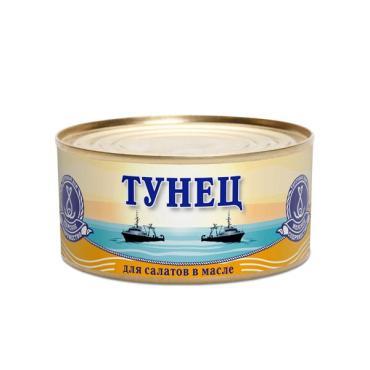 Консерва рыбная Морское Содружество тунец для салатов в масле