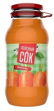 Сок Полезный сок Морковный с мякотью