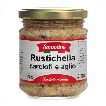 Овощные консервы Santolino Rustichella carciofi e aglio