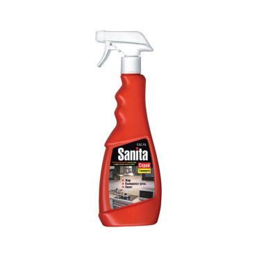 Чистящее средство Sanita спрей для чистки кухонной мебели, плит, кафельной плитки сменный блок