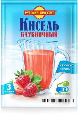 Кисель Клубника Русский аппетит, 90 гр., сашет