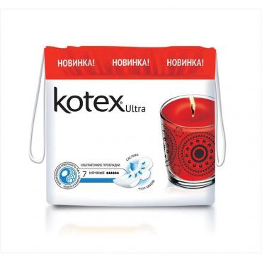 Прокладки ночные Kotex Ultra, 7шт
