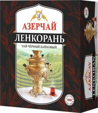 Чай пакетированный черный 100 пак. Azercay Ленкорань, 160 гр., картонная коробка