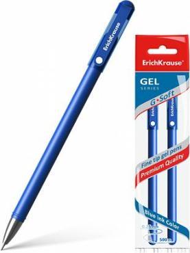 Ручка Erich Krause G-Soft гелевая синяя 2 шт.