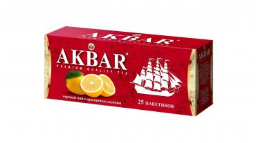 Чай Akbar лимон в пакетиках