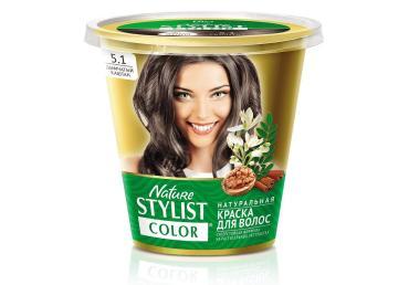 Краска для волос Fito косметик цвет тон 5.1 дымчатый каштан