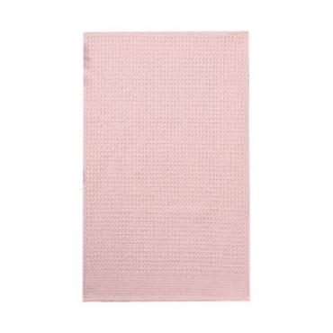 Полотенце Доляна розовый 35х60см. 100% хлопок крупная вафля 220 г/м2