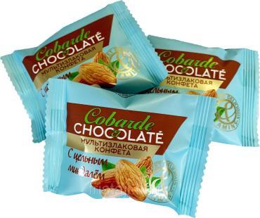Конфеты с миндалем Cobarde el Chocolate, Cobarde el Chocolate, 2 кг., флоу-пак