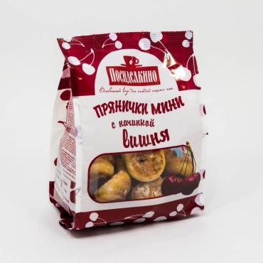 Пряники мини с вишневой начинкой, Посиделкино, 300 гр., флоу-пак