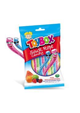 Жевательный мармелад Toybox Кислые веревки, 80 гр., флоу-пак