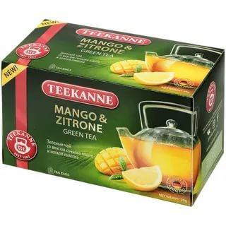 Чай Teekanne mango-zitron зеленый в пакеиках