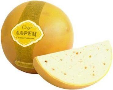 Сыр с пажитником 50%, шар Ларец, 1 кг., полиэтиленовая пленка