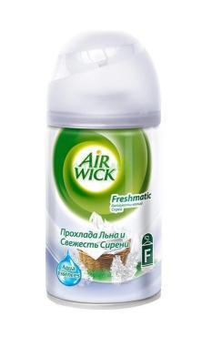 Освежитель воздуха Air Wick Fresh Matic Прохлада льна и свежесть сирень сменный аэрозоль