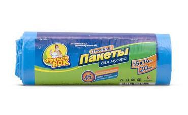 Пакеты для мусора 45 л. фиолетовые Фрекен Бок HD, 20 шт., бумажная упаковка