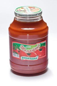 Сок томатный, Широкий Карамыш, 3 л., стекло