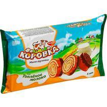 Рулет с начинкой топленое молоко РотФронт Коровка, 210 гр., флоу-пак