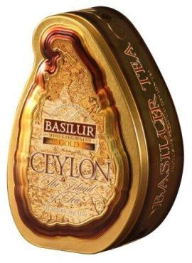 Чай листовой черный Basilur The island of tea Ceylon Gold, 100 гр., жестяная банка