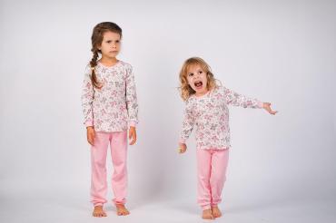 Пижама белый, розовый, 80, Бамбинни, 100 гр., пластиковый пакет