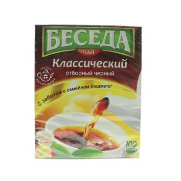 Чай Беседа Классический черный в пакетиках 180 гр