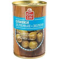 Оливки зеленые Fine Life фаршированные анчоусом
