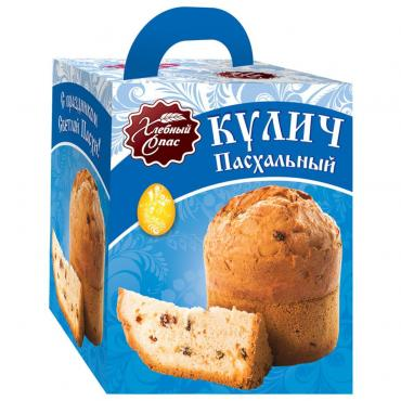 Кекс Хлебный спас Кулич Пасхальный, 430 гр., картонная коробка