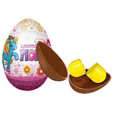 Шоколадное яйцо Цветочные пони