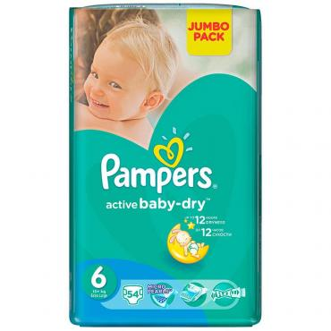 Подгузники Pampers Active baby р.6 54 шт.