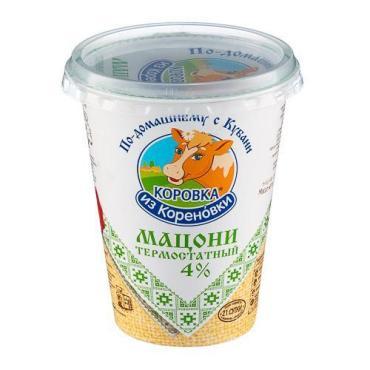 Мацони термостатный 4%, Коровка из Кореновки, 350 гр, ПЭТ