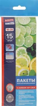 Пакеты многофункциональные с застежкой 15 шт. Avikomp Prolang, 90 гр., пластиковый пакет