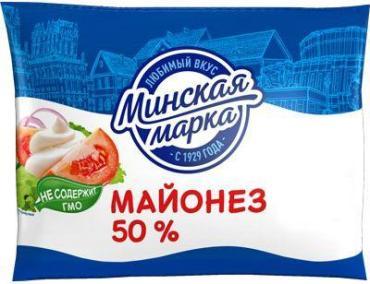 Майонез 50% Минская марка, 200 гр., пластиковый пакет
