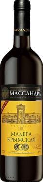 Напиток винный Массандра Мадера Крымская 17 %, Россия, 700 мл., стекло