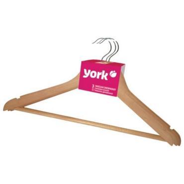 Вешалка для одежды деревянная 3 шт., York, 300 гр.
