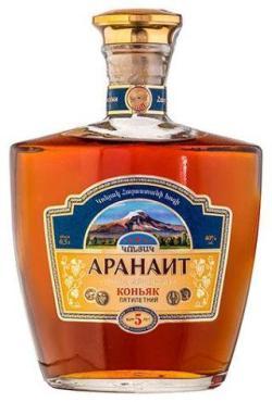 Коньяк пятилетний Аранаит 40%, 500 мл., стекло