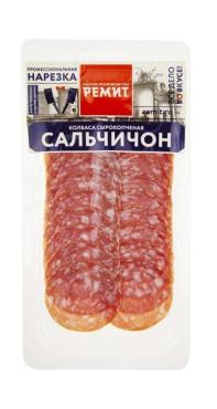 Колбаса Сальчичон с/к нарезка, Ремит, 70 гр., вакуумная упаковка