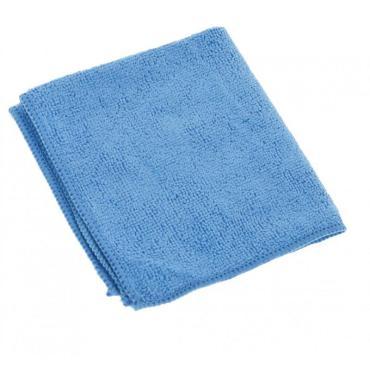 Салфетка из микрофиб для стекла 30х40см., 270г/м., синий, 100 гр., пластиковый пакет