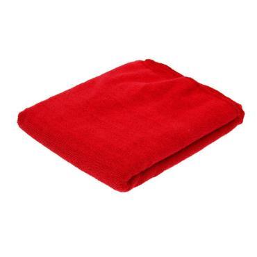 Тряпка из микрофибры 75х100 см., 280 г/кв.м. красная