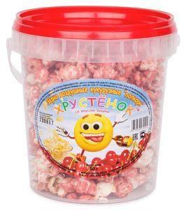 Попкорн  Хрустёнок в сладкой глазури Вишня, Конди-Прод, 60 гр, ПЭТ