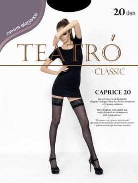 Чулки женские, цвет Nero черный, 20 den, размер 4, Teatro Caprice 20, 75 гр., пластиковый пакет