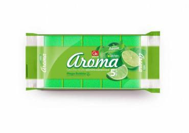 Губки для посуды из поролона АРОМА лайм 5 шт в упаковке размер 90 × 60 × 30 мм GRIFON, пластиковый пакет