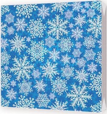 Салфетки бумажные трехслойные 33х33 см., Снежинки 126 гр., пластиковая упаковка