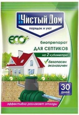 Биопрепарат для септиков, Чистый дом 75 гр., пластиковый пакет