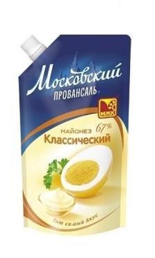 Майонез МЖК Московский провансаль 67% 220г