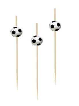 Шпажки для канапе Футбольный мяч 12см*100шт