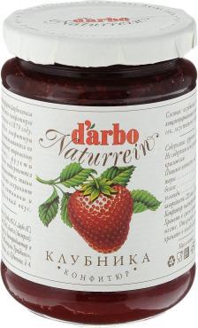 Конфитюр Darbo клубника, 450 гр., стекло