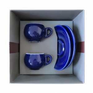 Подарочный набор для эспрессо, голубой, 4 предмета Danesi, картонная коробка